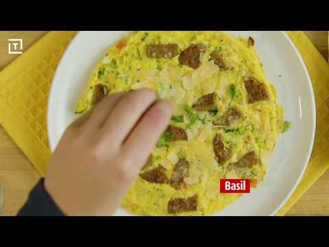 MorningStar Farms® Veggie Sausage & Cheese Frittata Recipe