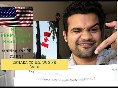 U.S. tourist Visa without PR Card? Canada to U.S. entry without PR Card??
