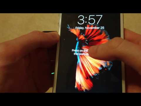 iOS 10 How to Change Background Lock Screen and Home iPhone 7