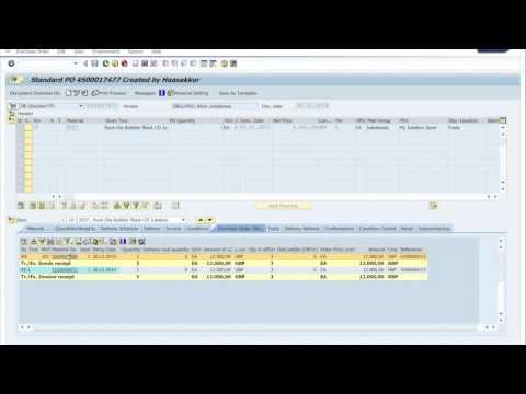 SAP Purchase history Display