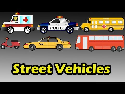 Street Vehicles For Kids | Educational Video | Toys Compilation Video 4