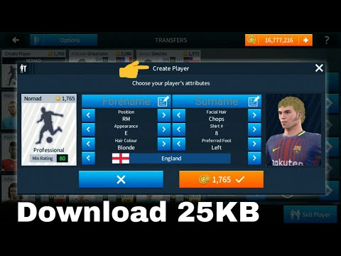 How To Get Features Create Players ● in Dream League Soccer 2018 #1