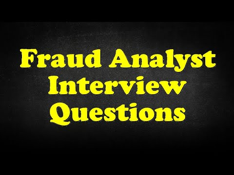 Fraud Analyst Interview Questions