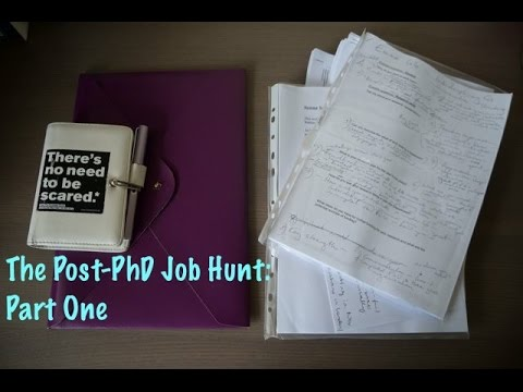 The Post-PhD Job Hunt: Part One