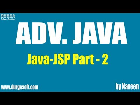 Adv Java-JSP-Part 2