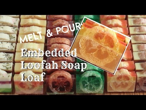 Embedded Loofah Soap Loaf - Melt & Pour | SARAH'S SOAPS