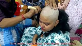 Indian Women beautiful Headshave