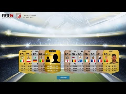 FIFA 14 WebApp Pack Opening - Starting a new Ultimate team!