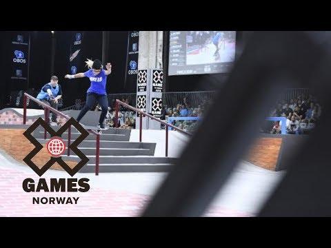 Pamela Rosa wins Women's Skateboard Street bronze   X Games Norway 2018
