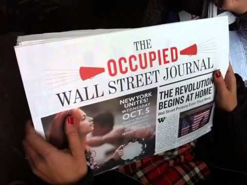 The Occupied Wall Street Journal #occupywallst