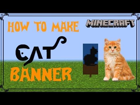 Minecraft | How to make Cat Banner | Mangoman