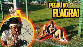 """PEGUEI O """"CASAL"""" NO FLAGRA NO MEIO DO FUTEBOL!! ( não sabiam que estava gravando )"""