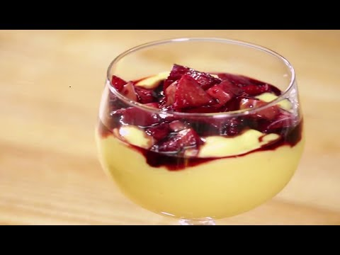 Apple Custard In Red Wine Reduction | Apple Tasty Delight | Sanjeev Kapoor Khazana