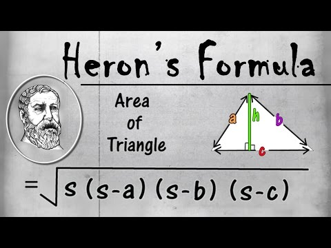 Heron's Formula | Perimeter & Area | Geometry | Math | LetsTute