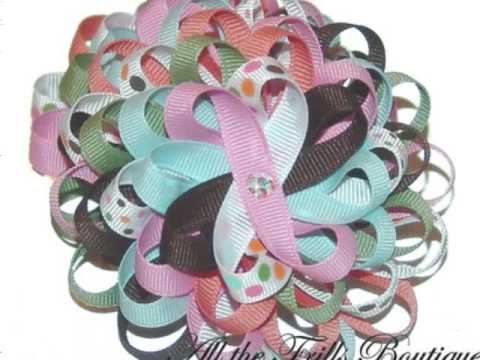 Classic Hair Bow Designs by All the Frills Boutique