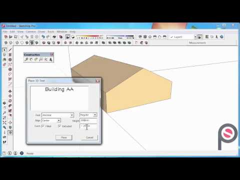 SketchUp - How to use the 3D Text Tool