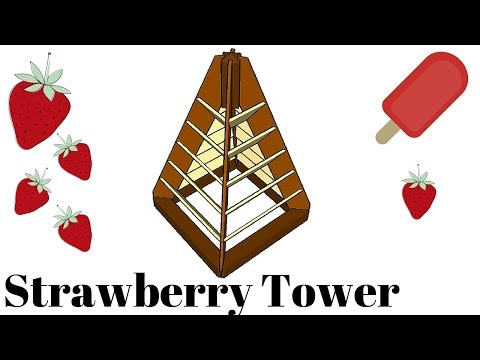 Strawberry tower plans