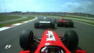 Barrichello Surprises The Schumachers, 2000 Spanish Grand Prix | F1 Classic Onboard