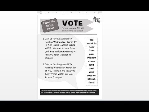 How to make a black and white meeting flyer with MS Word