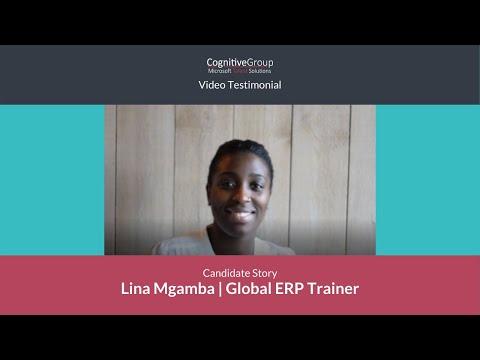 Microsoft Talent Solutions   Lina Mgamba, AX Trainer