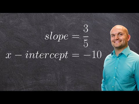 Writing an equation given the slope and x intercept