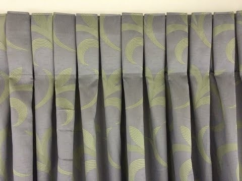 Box pleat- how to make a box pleat curtain