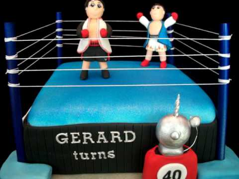 3D Boxing ring/ Boxing themed Fondant Cake
