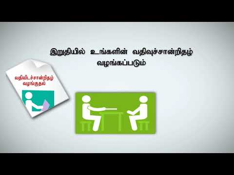 Obtaining a Resident Certificate-  Tamil