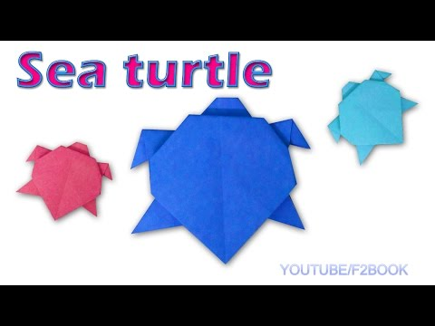 Origami Sea Turtle : Paper Animals * Turtle Easy Make * Simple Origami for Kids