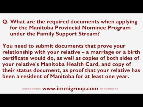 What are the required documents when applying for the MPNP under the Family Support Stream?