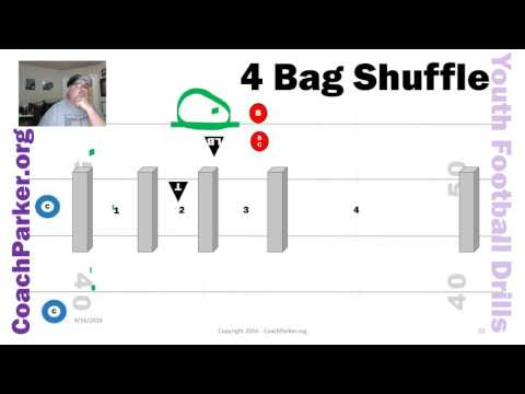 4 Bag Shuffle Youth Football Tackling Drills by Coach Parker