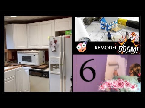 *Mobile Home Remodel - Episode 6* Upper Cabinets- Paint- Dancing*