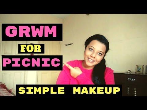 Simple Makeup I  Quick & Easy Makeup on the Go I  GRWM for a Picnic I JauntyJanki