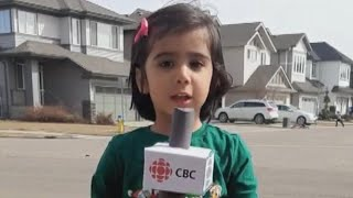 Toddler Shows Off Reporting Skills Complete With Homemade Microphone