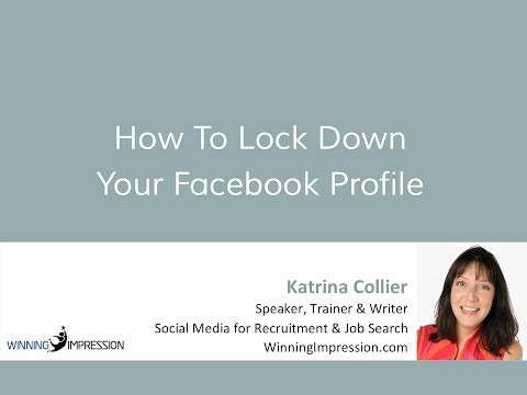 How To : Lock Down Your Facebook Profile
