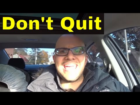 Think About This When You Want To Quit