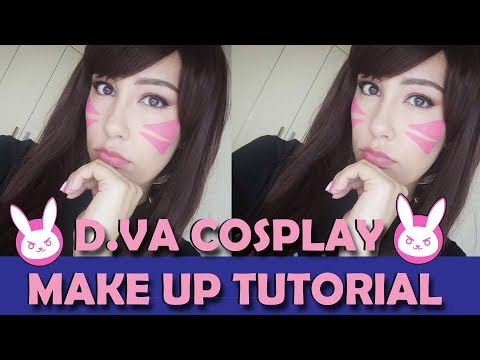 D.Va Cosplay Make up Tutorial! |Overwatch|