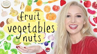 Learn Names of Fruit Vegetables & Nuts Vocabulary + Pronunciation British English Lesson