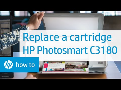 Replacing a Cartridge - HP Photosmart C3180 All-in-One Printer