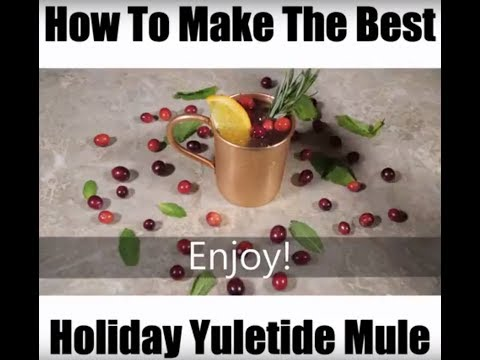 How To Make the PERFECT Holiday Moscow Mule-the YULE MULE