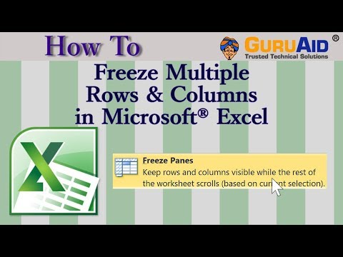 How to Freeze Multiple Rows & Columns in Microsoft® Excel - GuruAid
