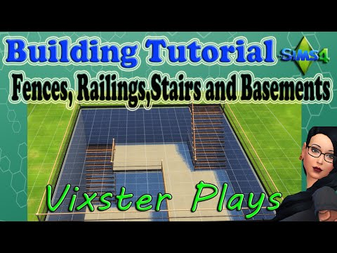 The Sims 4 Building - How to Build Railings, Fences, Stairs and Basement Tutorial