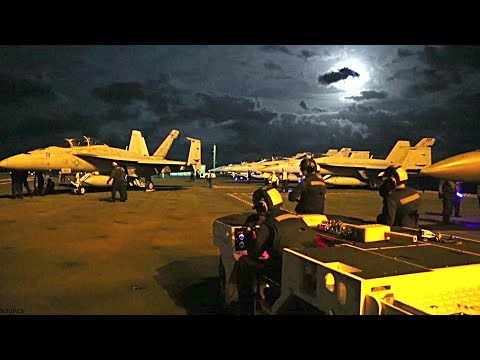 Day/Night Flight Operations From The Flight Deck Of USS Gerald R. Ford