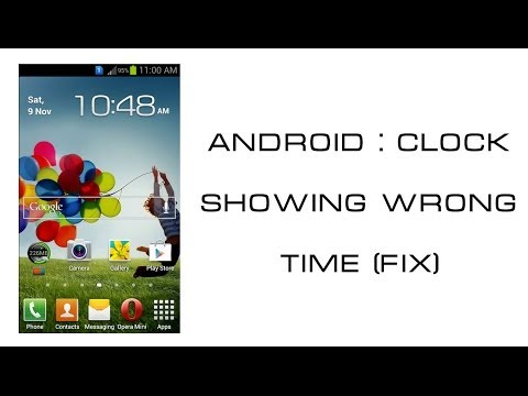 Android : Clock widget showing wrong time (Fix)