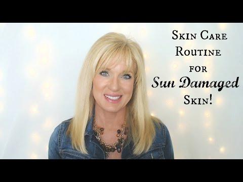 My Skin Care Routine for SUN DAMAGED Skin!