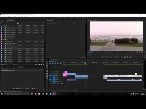 Adobe Premiere Pro shortcuts - How to insert a clip in the middle of the timeline