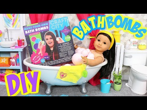 DIY Bath Bombs for American Girl Dolls by Karina Garcia