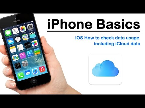iPhone Basics - iOS How to check data usage including iCloud data