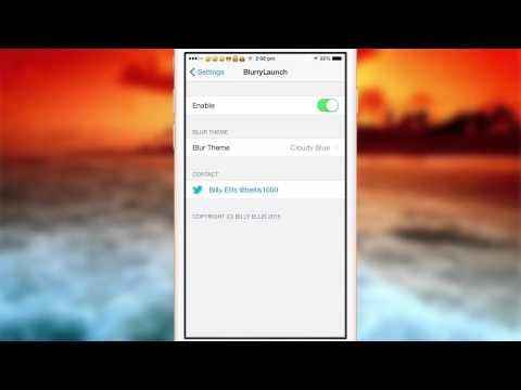 BlurryLaunch iOS 8 Cydia Review