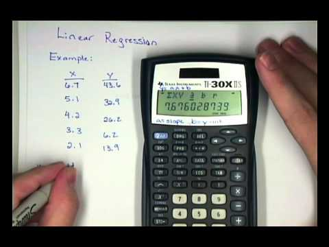 Elementary STAT Calculator TI30XIIS Linear Regression.mp4